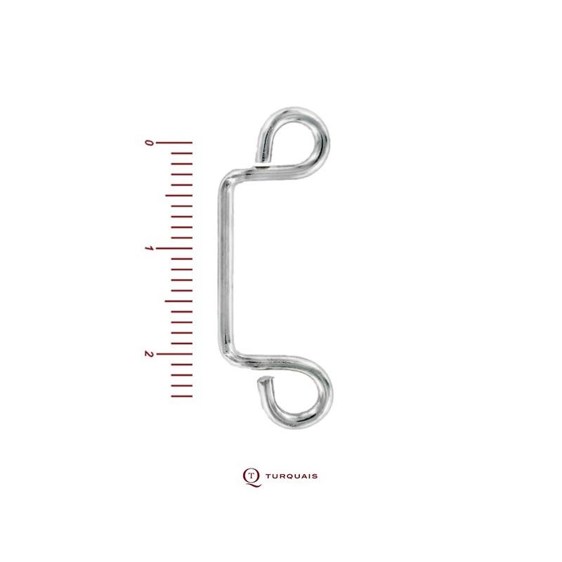 Porte d'agrafe Fil 1.6 Nickelé